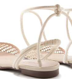 FLAT LACE-UP HANDMADE PALHA