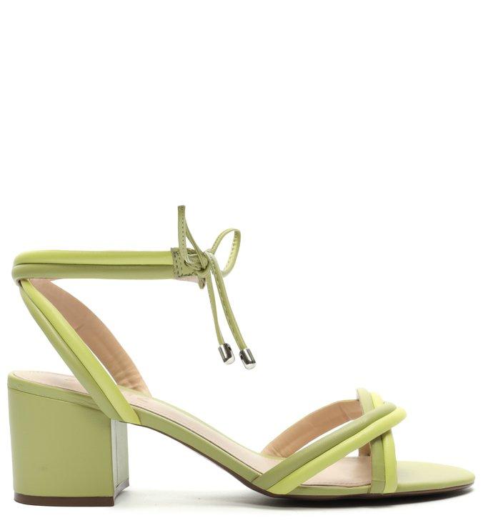 Sandália Block Heel Strings Mellow Green