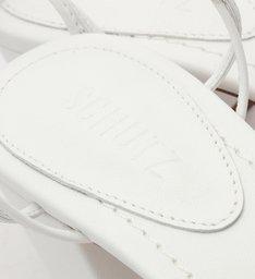 Sandália Block Heel Glam Stones White
