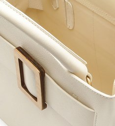 TOTE BUCKLE WOOD WHITE