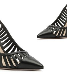 Scarpin Slingback Cut-Out Black