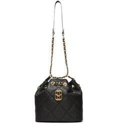 Bucket Bag Precious Ráfia Black