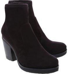 Bota Block Heel Strech Black