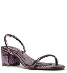 Mule Block Heel Metallic Glam Violet