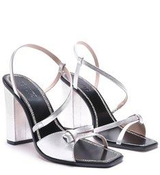 Sandália Salto Curves Prata