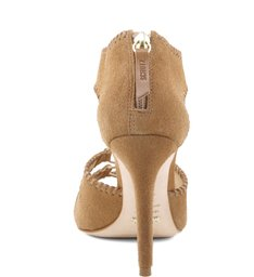 Sandália Stitched High Heel Sand Stone