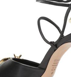 Sandália Salto Fino Amarração Bee Preta