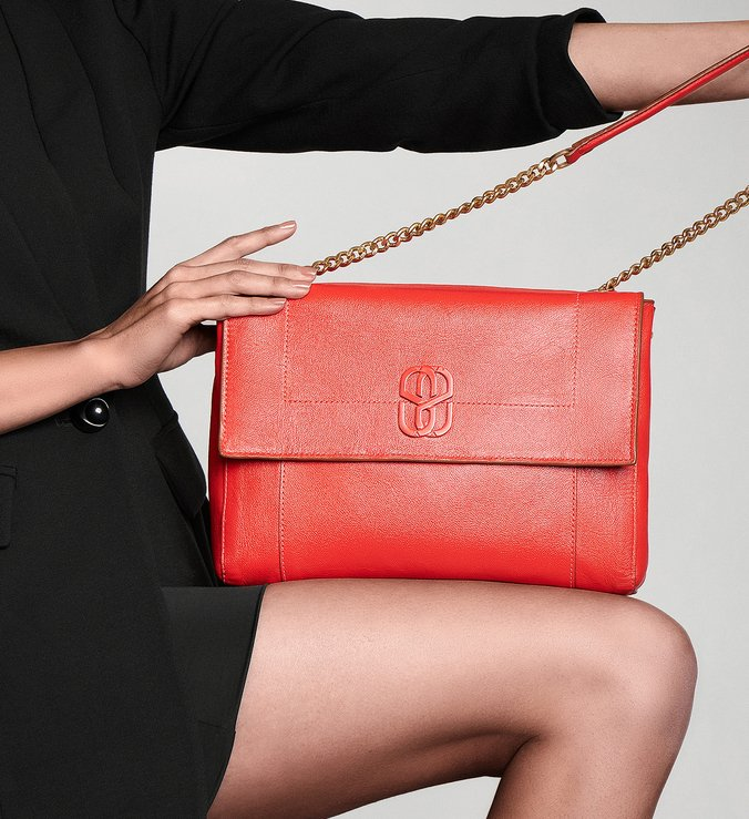 Shoulder Bag Double Face Brown/Red
