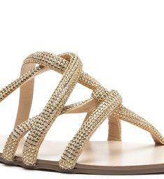 Rasteira Slide Glam Dourada