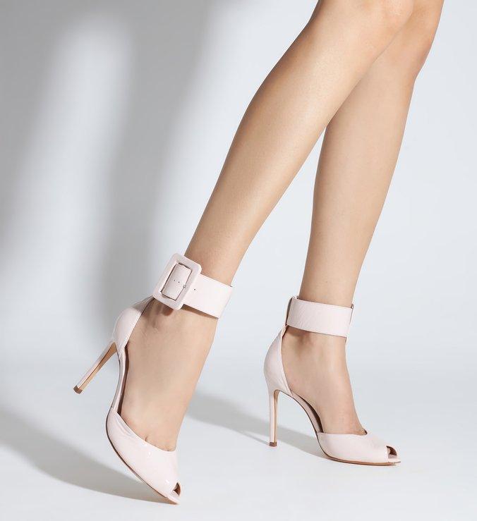 Sapato Scarpin Salto Alto Verniz Bege