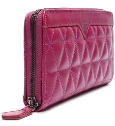 Carteira Grande 944 Couro Matelassê Pink