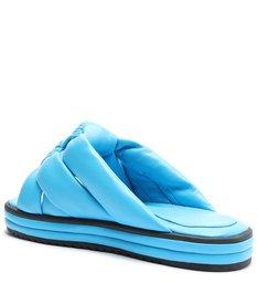 Sandália Slide Flatform Azul