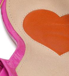 Schutz x Ginger Sandália Block Heel Lace-Up Pink