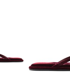 [On Demand] Homewear Flat Flip Flop Ava Velvet Wine