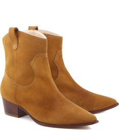 Bota Natural Folk Suede Brandy