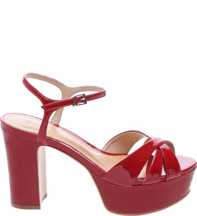 Sandália Disco Verniz Tango Red