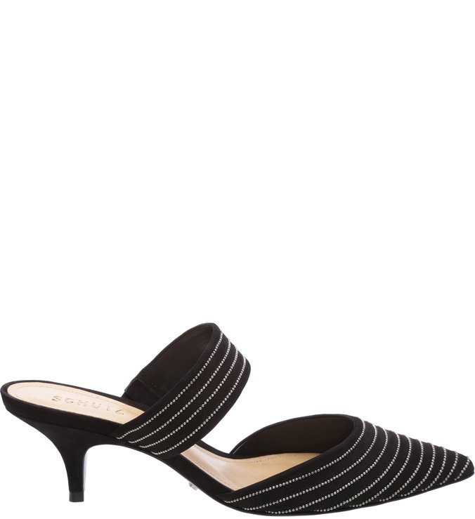 Mule Pointy Toe Black