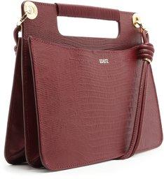 Handbag Crossbody Lezard Cabernet