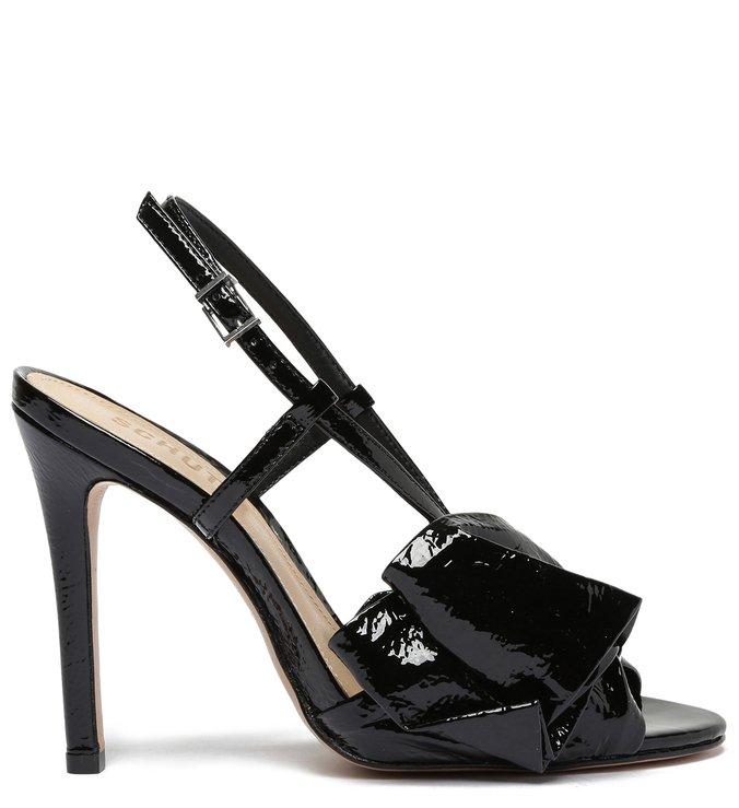 Sandália Salto Verniz Laço Preta