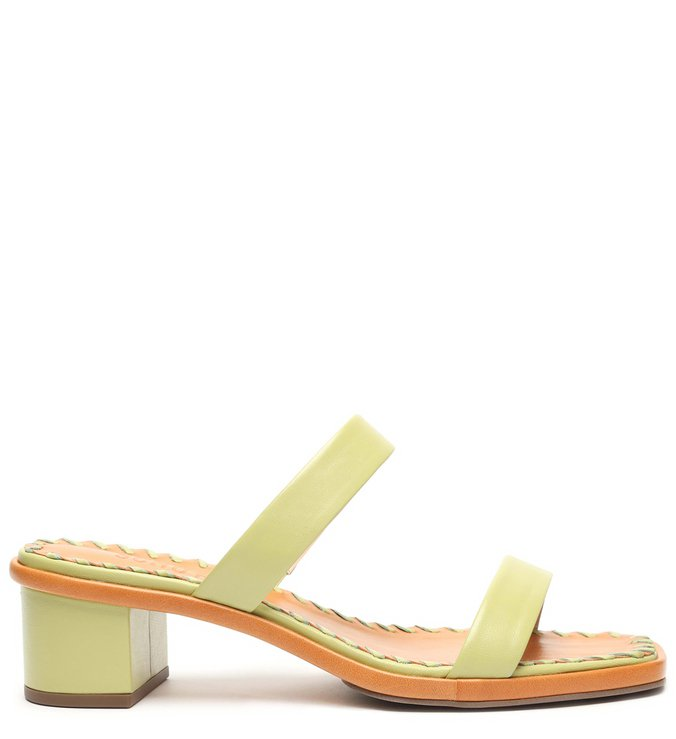 Mule New Minimal Block Heel Green
