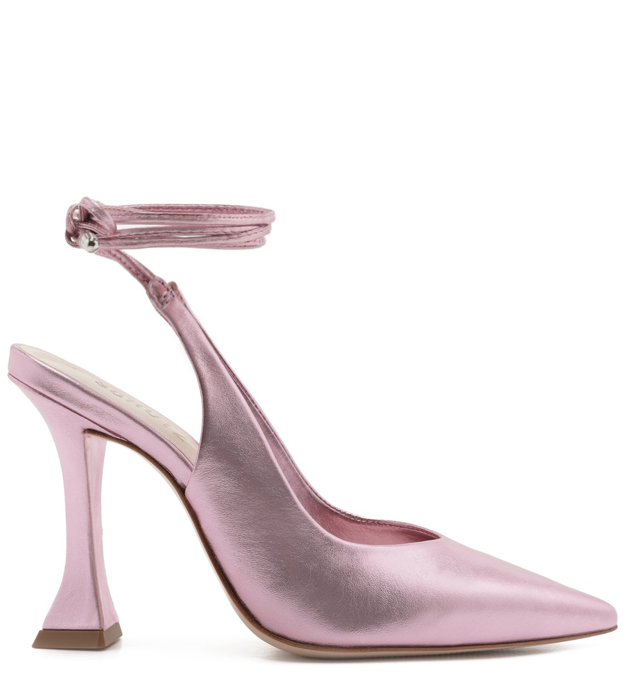 Scarpin Taça Lace-Up Metallic Rose | Schutz