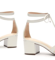 Sandália Block Heel Minimal Pop White