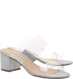 Sandália Mule Block Heel Shine
