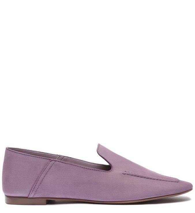 Sapato Mocassim Camurça Lilás