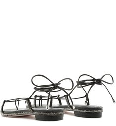 Sandália Rasteira Lace-Up Glam Black