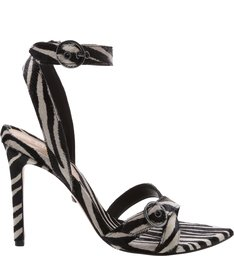Sandália Stiletto Zebra Print