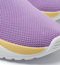 Tênis Active Knit Roxo e Amarelo