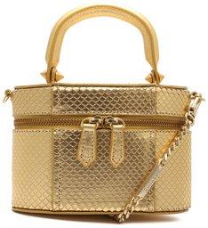 Bolsa Tiracolo Vanity Couro Dourada
