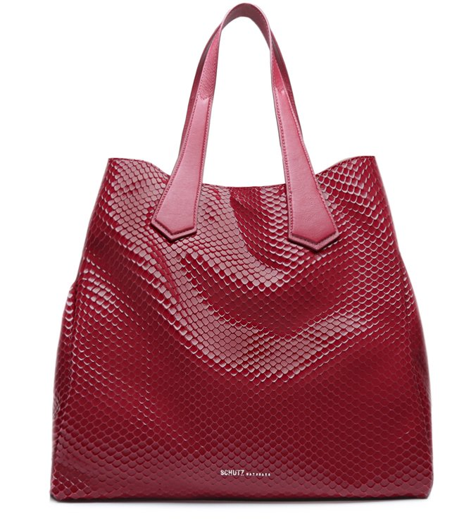 Shopping Bag New Maxxi Bright Snake Red | Schutz