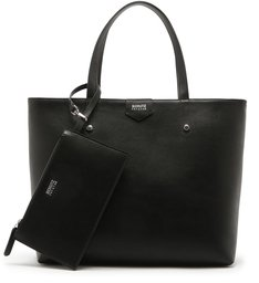 SHOPPING BAG MEG POCKET BLACK