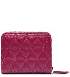 Carteira Pequena 944 Couro Matelassê Pink
