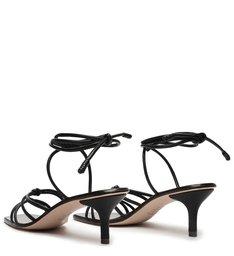 Sandália Mid Heel Strings Black