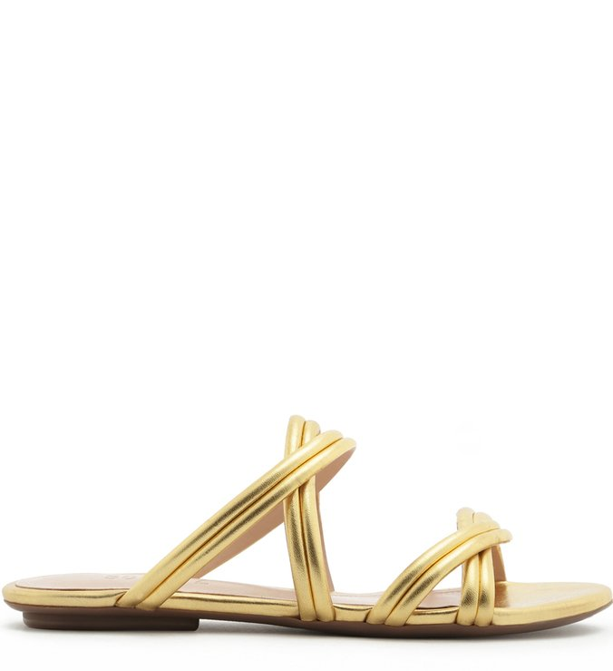 Slide Double Straps Gold | Schutz
