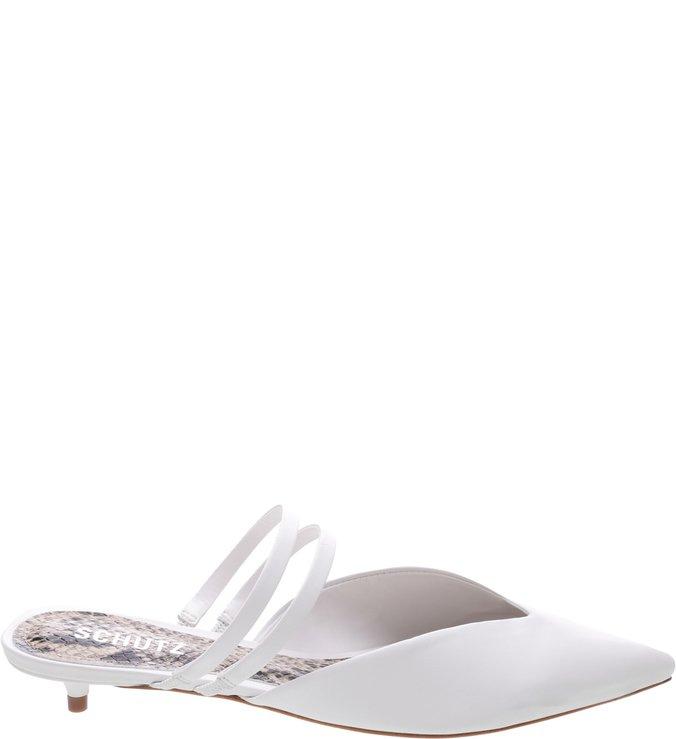 Mule Micro Heel Straps White | Schutz