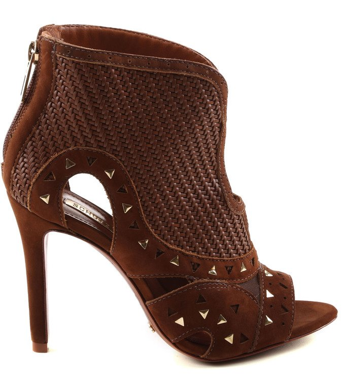 Ankle Boot Brown Com Recorte