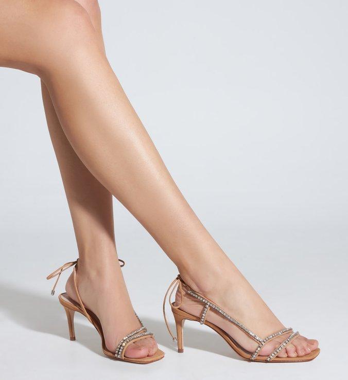 Sandália Glam Mid Heel Honey