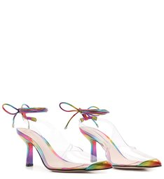Scarpin Lace-Up Vinil Clear Holo