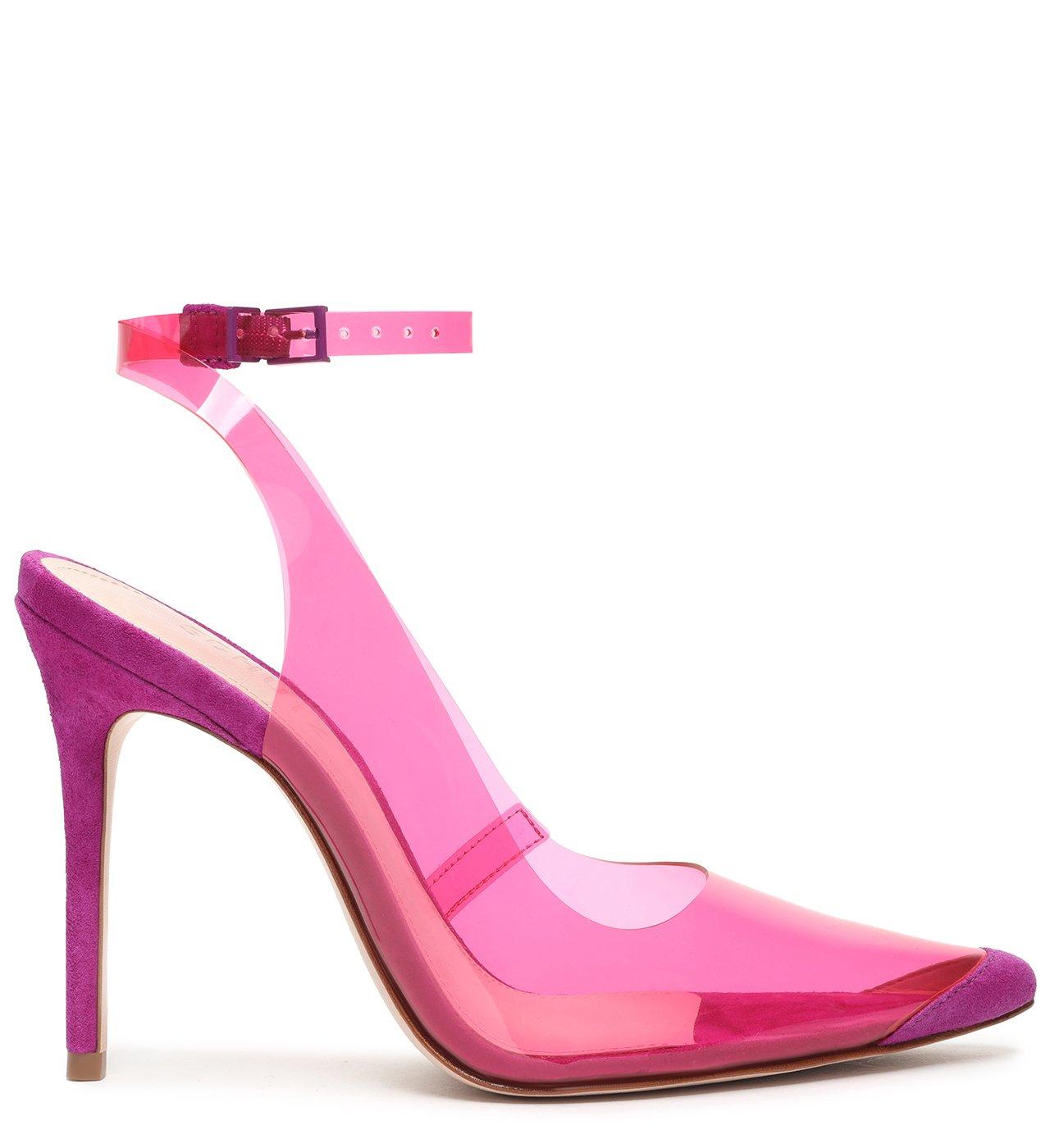 Scarpin Vinil Slingback Pink | Schutz