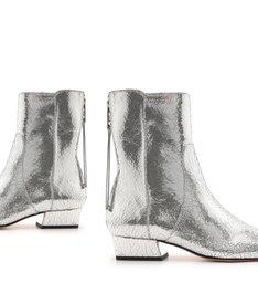 Skinny Boot Flat Prata