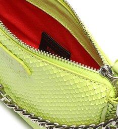 [Pre-Order] Bolsa Tiracolo Baguette Pequena Emmy Snake Verde