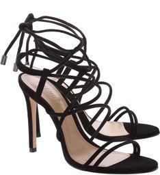 Sandália Salto Strings Black