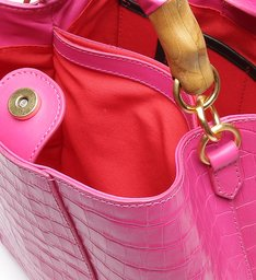 Hobo Bag Believe Bright Croco Pink