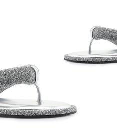 Homewear Flat Flip Flop Emi Disco Prata