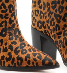 Bota Maryana Block Heel Cano Alto Animal Print