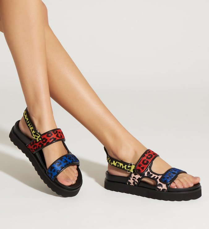 SPORTY SANDAL ANIMAL COLORS
