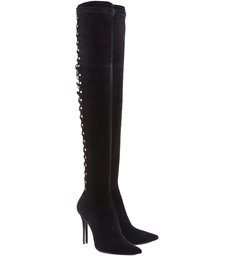 Maxi Over The Knee Lace Up Boots